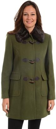 Fleet Street Women's Faux-Fur Trim Wool Blend Coat