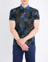 Etro Paisley and camouflage-print cotton polo shirt