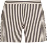 Tory Burch Marit striped cotton-blend shorts