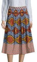 Max Mara Cellula Printed Cotton Skirt