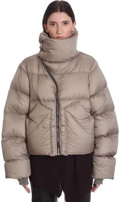 Rick Owens Mountain Duvet Clothing In Beige Polyamide