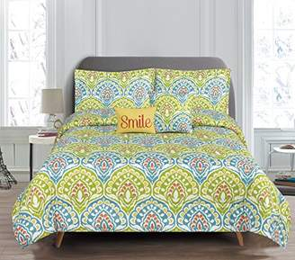 Dakota RT Designers Collection 5 Piece Printed Reversible Comforter Set