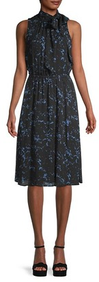 Donna Karan Sleeveless Print Dress