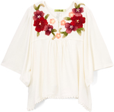 Little Mass Off-White & Purple Embroidered Tunic - Toddler & Girls
