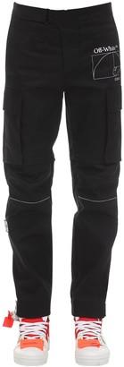 Off-White Skinny Cotton Gabardine Cargo Pants