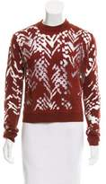 Alexander Wang Mesh-Accented Wool Sweater