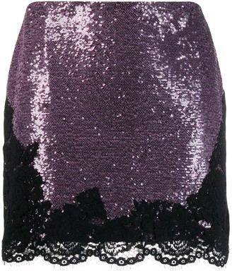 Philosophy di Lorenzo Serafini sequin embellished mini skirt
