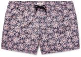 Club Monaco Arlen Slim-Fit Mid-Length Printed Swim Shorts