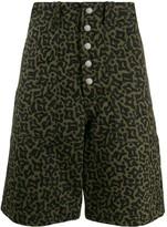 Marni Camo Cells print bermuda shorts