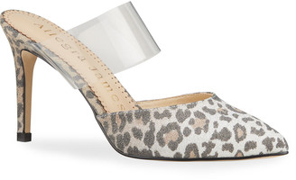 Allegra James Chloe Leopard-Print Slide Pumps