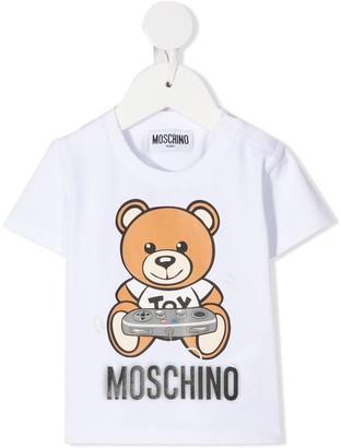 MOSCHINO BAMBINO teddy bear game console T-shirt