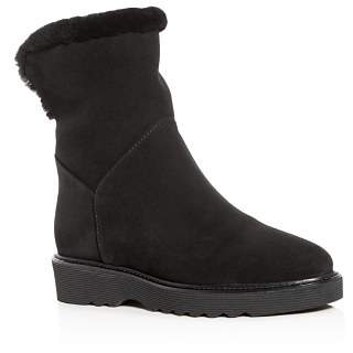 Aquatalia Women's Weatherproof Shearling Wedge Boots