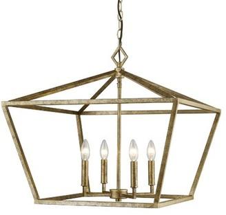 Andover Mills Poisson 4 - Light Lantern Geometric Chandelier Finish: Vintage Gold
