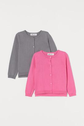 H&M 2-Pack Fine-Knit Cardigans