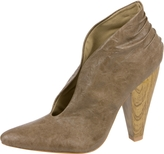 Ruched Open Booties