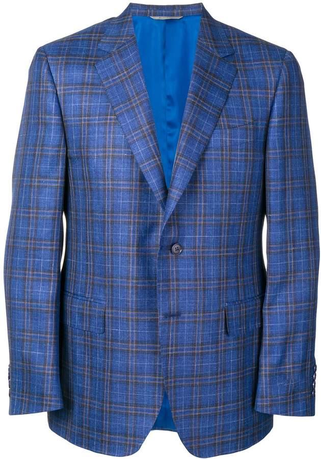 Canali tartan suit jacket