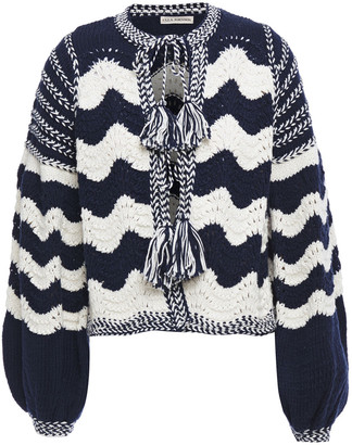 Ulla Johnson Yesenia Tasseled Crocheted Cotton And Wool-blend Cardigan