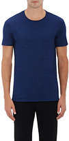 Barneys New York MEN'S HEATHERED COTTON-BLEND T-SHIRT-BLUE SIZE S