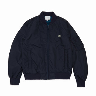 Lacoste Men's Reversible Quilted Solid Or Colourblock Bomber Jacket