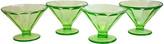 One Kings Lane Vintage 1930s Green Glass Pedestal Bowls - Set of 4 - Design Line