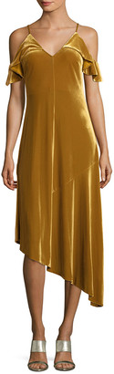 Donna Morgan Ochre Asymmetric Dress