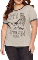 Freeze Take a walk on the wild side Graphic T-Shirt- Juniors Plu