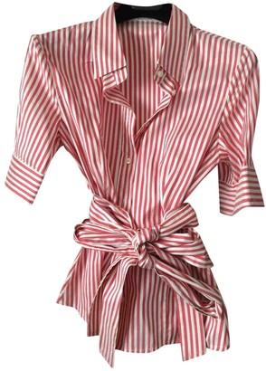 Carolina Herrera Red Silk Top for Women