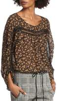 Tracy Reese Printed Scoopneck Silk Blouse
