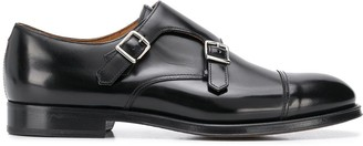Doucal's Leather Monk Shoes