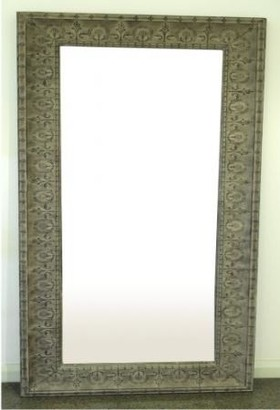 One World Taupe Medium Mirror
