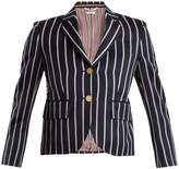 Thom Browne Single-breasted striped wool-blend blazer