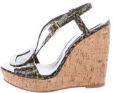 Roger Vivier Buckle-Accented Embossed Wedges