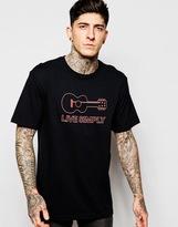 Patagonia T-shirt With Live Simply Guitar Print Regular Fit - Black