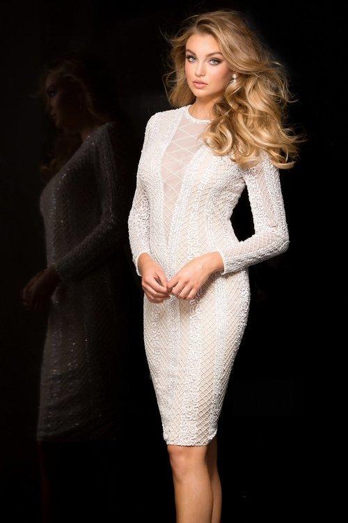 Scala 48728 Dress In Ivory/Nude