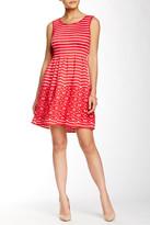Max Studio Stripe Flare Dress