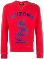 DSQUARED2 Arizona poisonous snake sweatshirt - men - Cotton - M