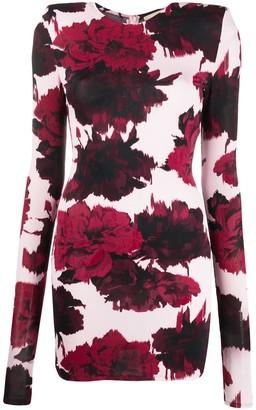 Alexandre Vauthier Short Floral Print Dress