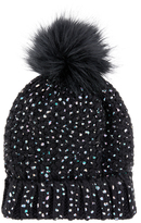 Accessorize ThinsulateTM Foiled Faux Fur Pom Beanie Hat