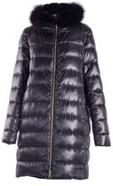 Herno Long Down Jacket With Collar Fur