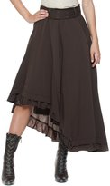 Rogue Finery Women's Plus Belt Steampunk Victorian Inspired Ruffle Asymmetric Petticoat Skirt (1XL, )