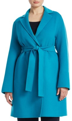 Marina Rinaldi, Plus Size Belted Wool Coat
