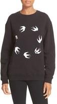 McQ by Alexander McQueen Women's Swallow Print Sweatshirt