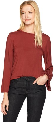 David Lerner Women's Crew Neck Bell Sleeve Top