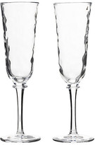 Juliska Set of 2 Carine Champagne Flutes - Clear