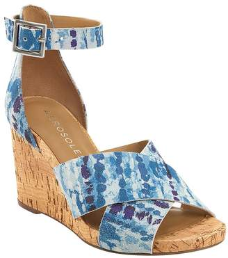 Aerosoles Strappy Leather Wedge Sandals- Carnegie