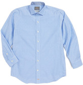 Thomas Dean Mini Check Dress Shirt (Big Boys)