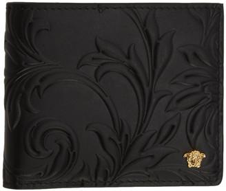 Versace Black Embossed Medusa Bifold Wallet