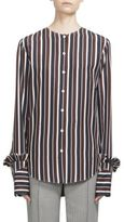 Nina Ricci Striped Button Front Blouse
