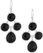 Elizabeth Showers Audrey Black Onyx Chandelier Earrings