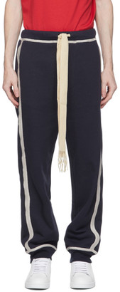 Loewe Navy and Off-White Anagram Lounge Pants
